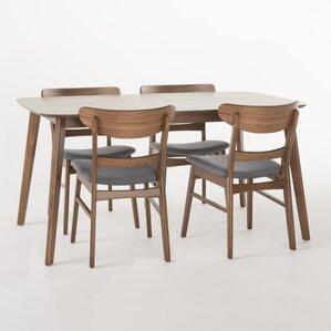 Yolanda 5 Piece Rubberwood Dining Set