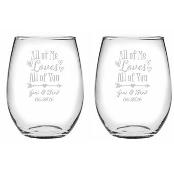 Le Prise Bohemian Wings 2 Piece 15 Oz Stemless Wine Glass Set Wayfair