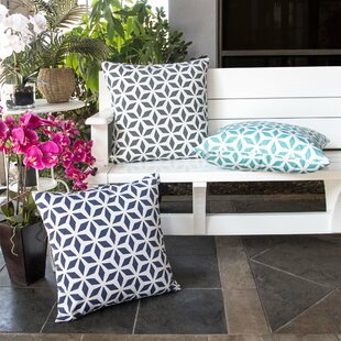 Breault Diamond Burst Outdoor Throw Pillow