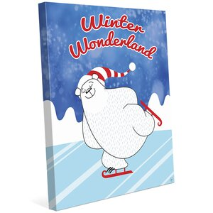 'Winter Wonderland Polar Bear' Graphic Art on Wrapped Canvas