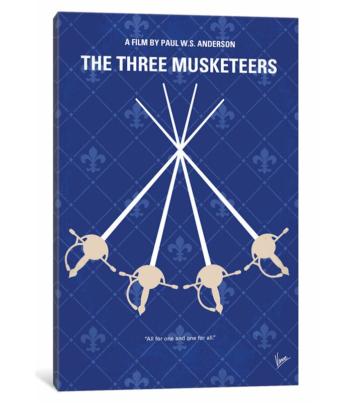 East Urban Home The Three Musketeers Graphic Art Print On Canvas