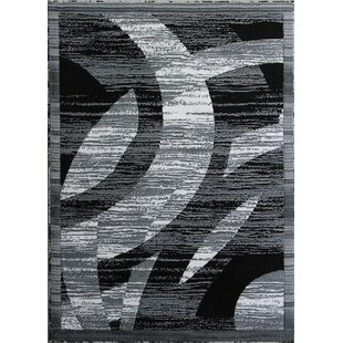 Compare Barnsley Black/White Area Rug By Orren Ellis