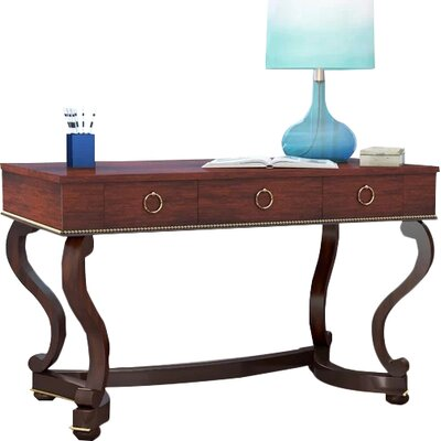 Corena Solid Wood Writing Desk by Beachcrest Home
