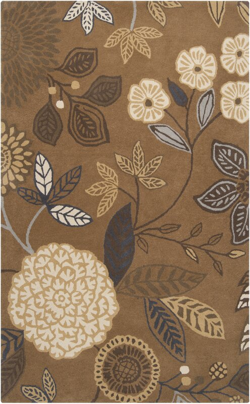 Harlequin Golden Brown Floral Area Rug