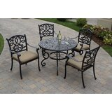 Windley 5 Piece Dining Set with Cushions