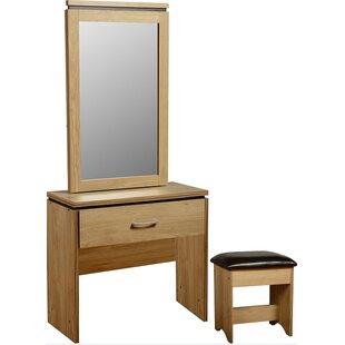 Charles 1 Drawer Drawer Dressing Table & Stool Set By 17 Stories
