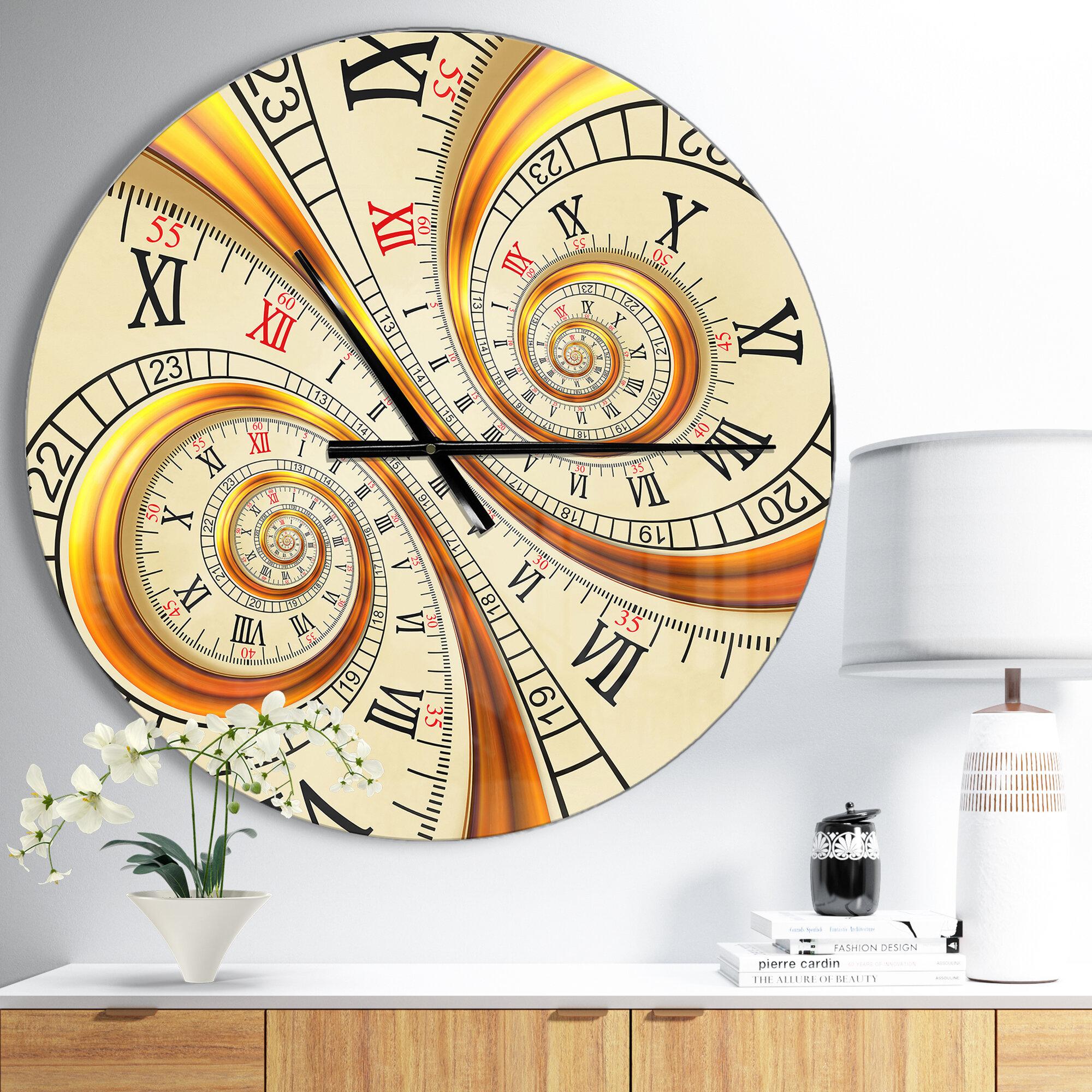 "23/"" Whimsical Spiral Wall Clock"