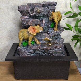 Blankenship Resin Water Fountain With Light By World Menagerie