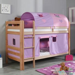 Review Faircloth European Single Bunk Bed With Textile Set