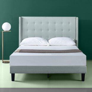 Alcott Hill Alexio Upholstered Wingback Platform Bed Frame