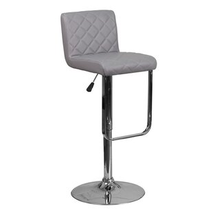 Farley Adjustable Height Swivel Bar Stool by Orren Ellis Savings
