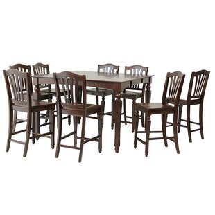 Darby Home Co Mirella 9 Piece Counter Height Dining Set