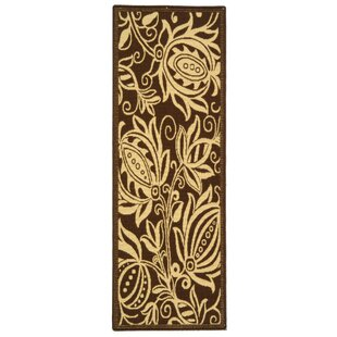 Best Reviews Laurel Chocolate/Natural Outdoor Area Rug ByAugust Grove
