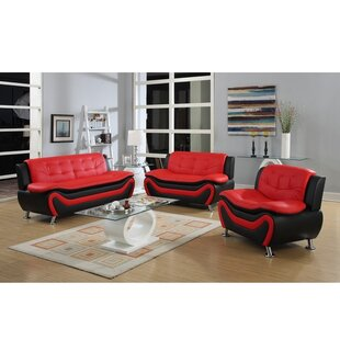 Bargain Roselia 3 Piece Living Room Set by PDAE Inc. Reviews (2019) & Buyer's Guide