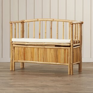 Gerhard Wood Storage Bench by World Menagerie