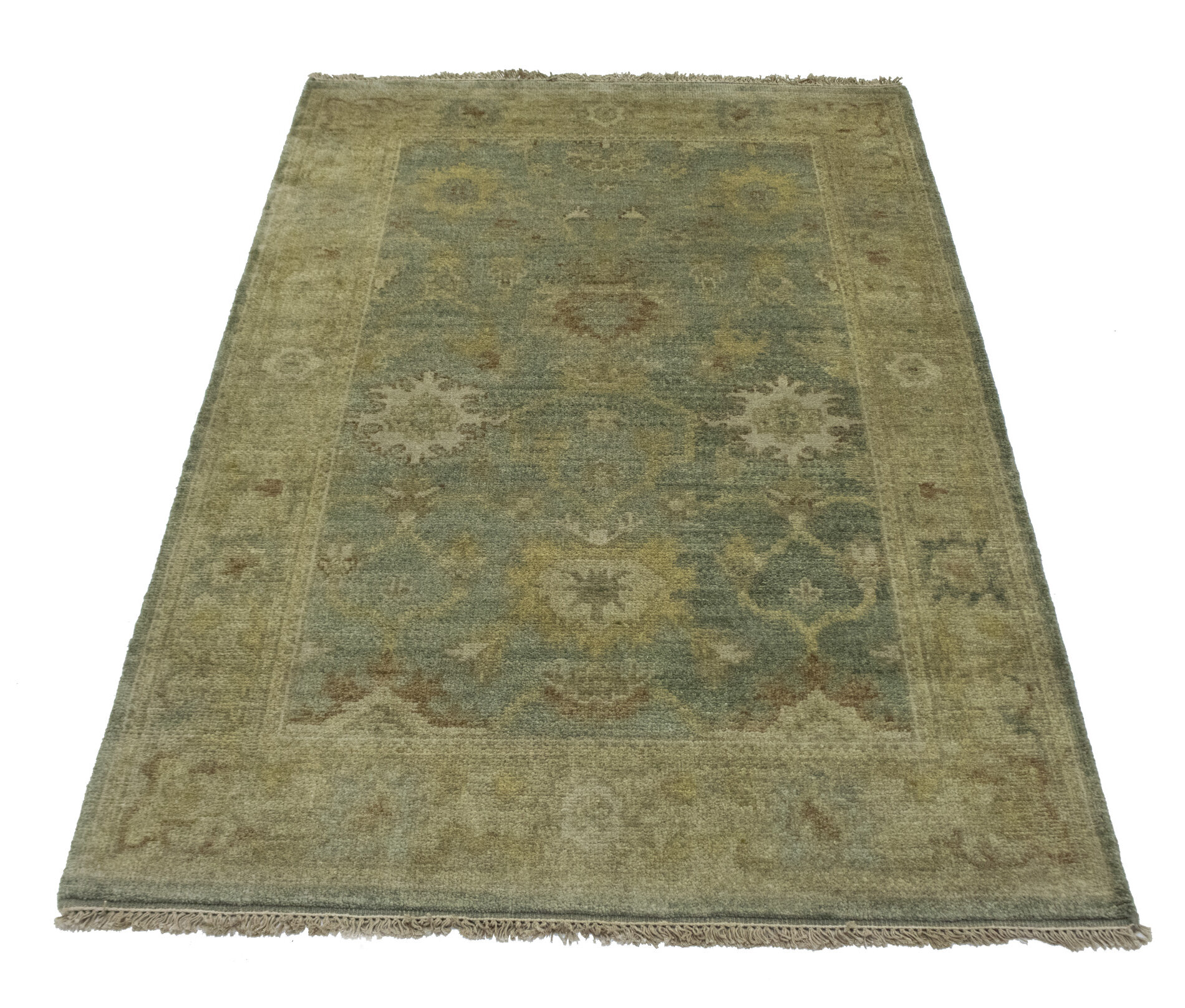Canora Grey Shepha Indian Hand Knotted