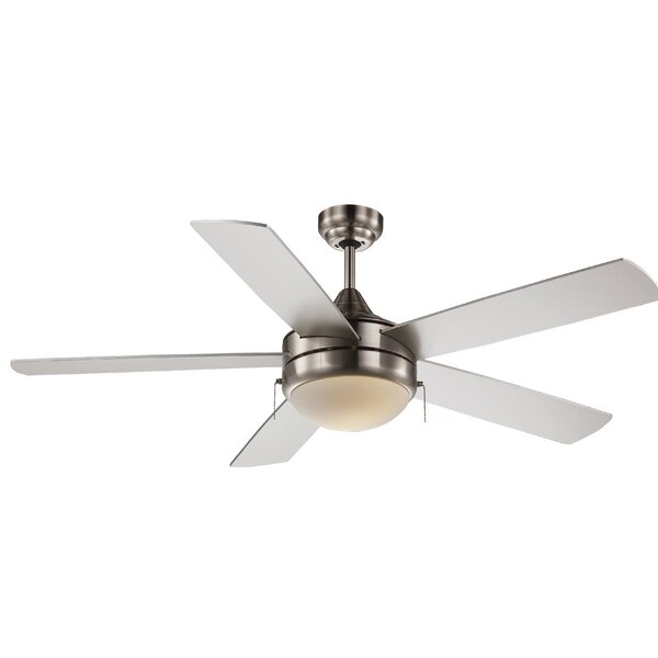 Ebern Designs 52 Everson 5 Blade Standard Ceiling Fan With Pull Chain And Light Kit Included Reviews Wayfair