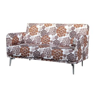 Gail Pattern Print Fabric Modern Loveseat