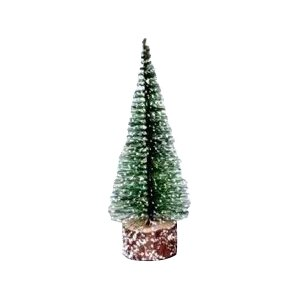 0.6′ Green Frosted Artificial Village Christmas Tree