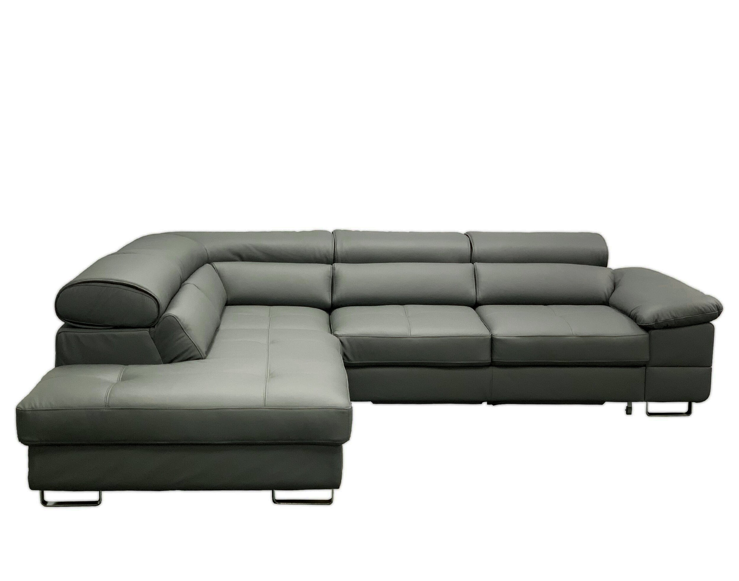 Picture of: Vvrhomes Costa Leather Sectional Sleeper Sofa Wayfair