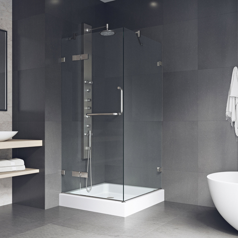 Vigo Monteray 32 X 73 Square Pivot Shower Enclosure With Base