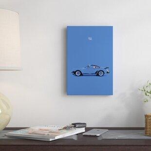 'Porsche 911 Turbo' Graphic Art Print on Canvas ByEast Urban Home