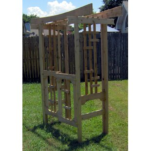 Threeman Products Japanese Wood Arbor With Gate