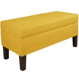 Upholstered Flip Top Storage Bench by Wayfair Custom Upholstery™