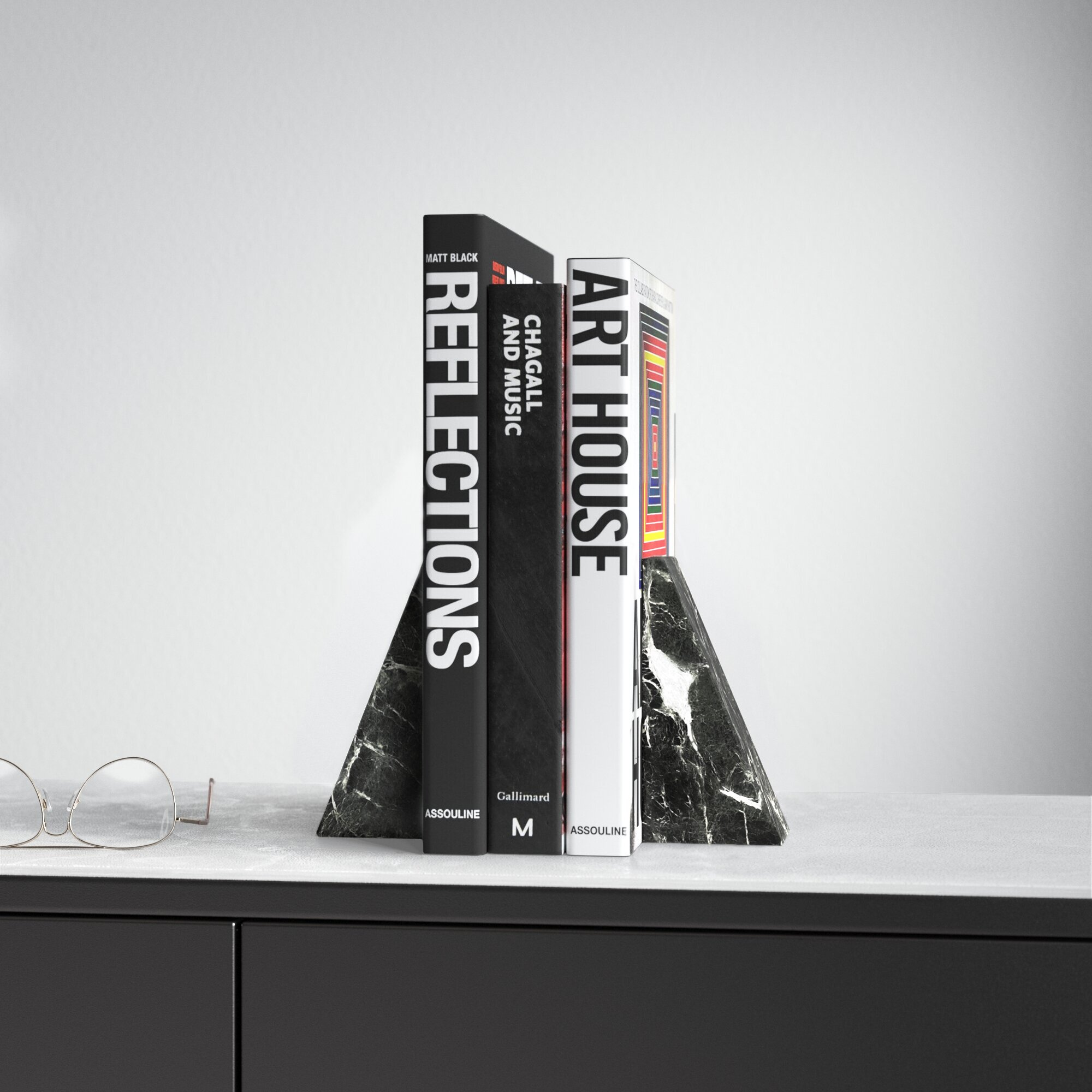 Marble Non Skid Bookends Reviews Allmodern