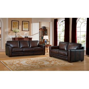Online Reviews Mcdonald Leather 2 Piece Living Room Set by World Menagerie Reviews (2019) & Buyer's Guide