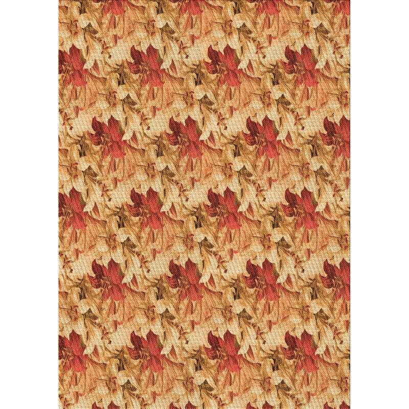 Winston Porter Floral Wool Orange Area Rug Wayfair