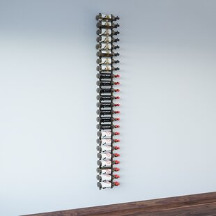 VintageView Wall Series 48 Bottle Wall Mounted Wine Bottle Rack