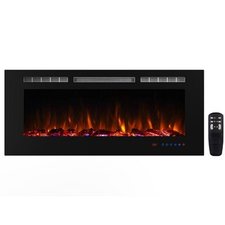 "Lesly 22"" Wall Mounted Electric Fireplace by Orren Ellis SKU:CE979948 Guide"