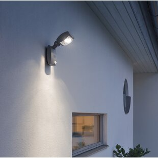 Latina LED Wall Light With PIR Sensor By Konstsmide