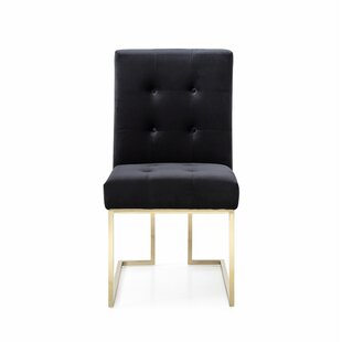 Everly Quinn Frisina Upholstered Dining Chair (Set of 2)