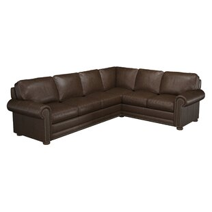 Odessa Leather Sectional by Westland and Birch