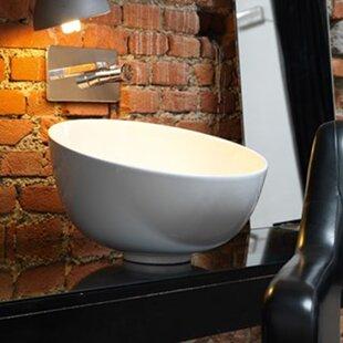 WS Bath Collections Ciotola Ceramic Circular Vessel Bathroom Sink