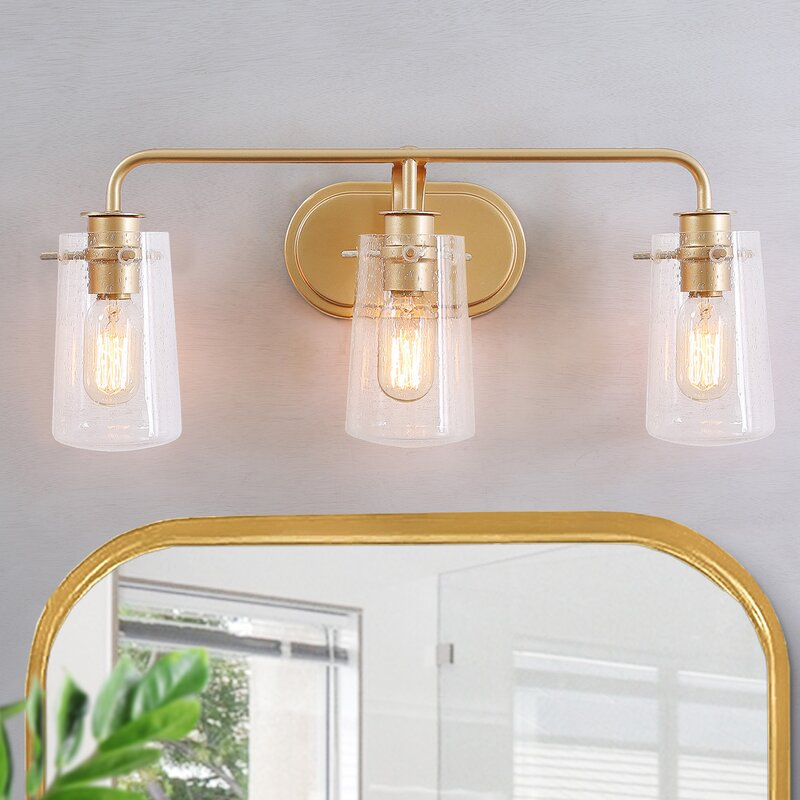 Mercer41 Ryerson 3 Light Dimmable Gold Vanity Light Reviews Wayfair
