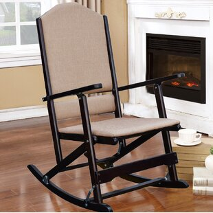 Cinthia Solid Wood Folding Rocking Chair by Red Barrel Studio