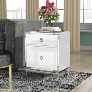 Willa Arlo Interiors Collier 2-Drawer Side Table