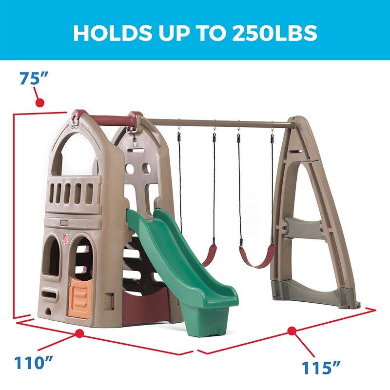 Step2 Naturally Playful Playhouse Climber Swing Set Reviews Wayfair