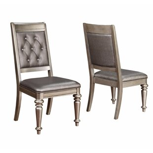 Linck Armless Chair with Tufted Back Upholstered Dining Chair (Set of 2)