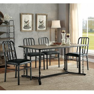 Virginia 5 Piece Dining Set 17 Stories
