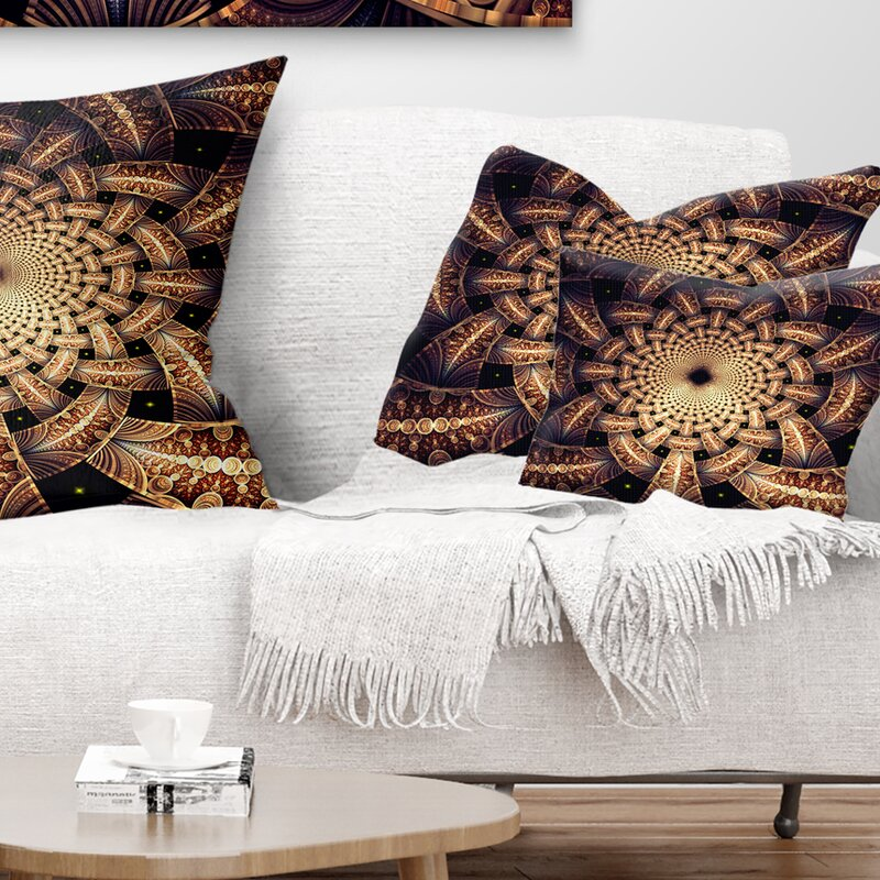 East Urban Home Floral Symmetrical Fractal Flower Design Lumbar Pillow Wayfair