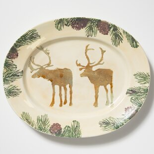 Foresta Moose Large Oval Decorative Plate