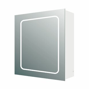 Powellsville 50 X 63cm Surface Mounted Mirror Cabinet With LED Lightning By Belfry Bathroom