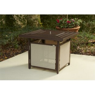 Andover Mills Crawford Patio Aluminum Propane Fire Pit Table