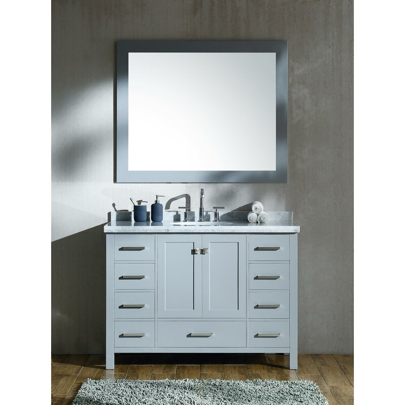 Andover Mills Minneota 49 Single Bathroom Vanity Set With Mirror Wayfair