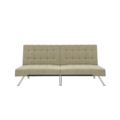 Turn on the Brights Crandon Velvet Convertible Sofa Color: Tan