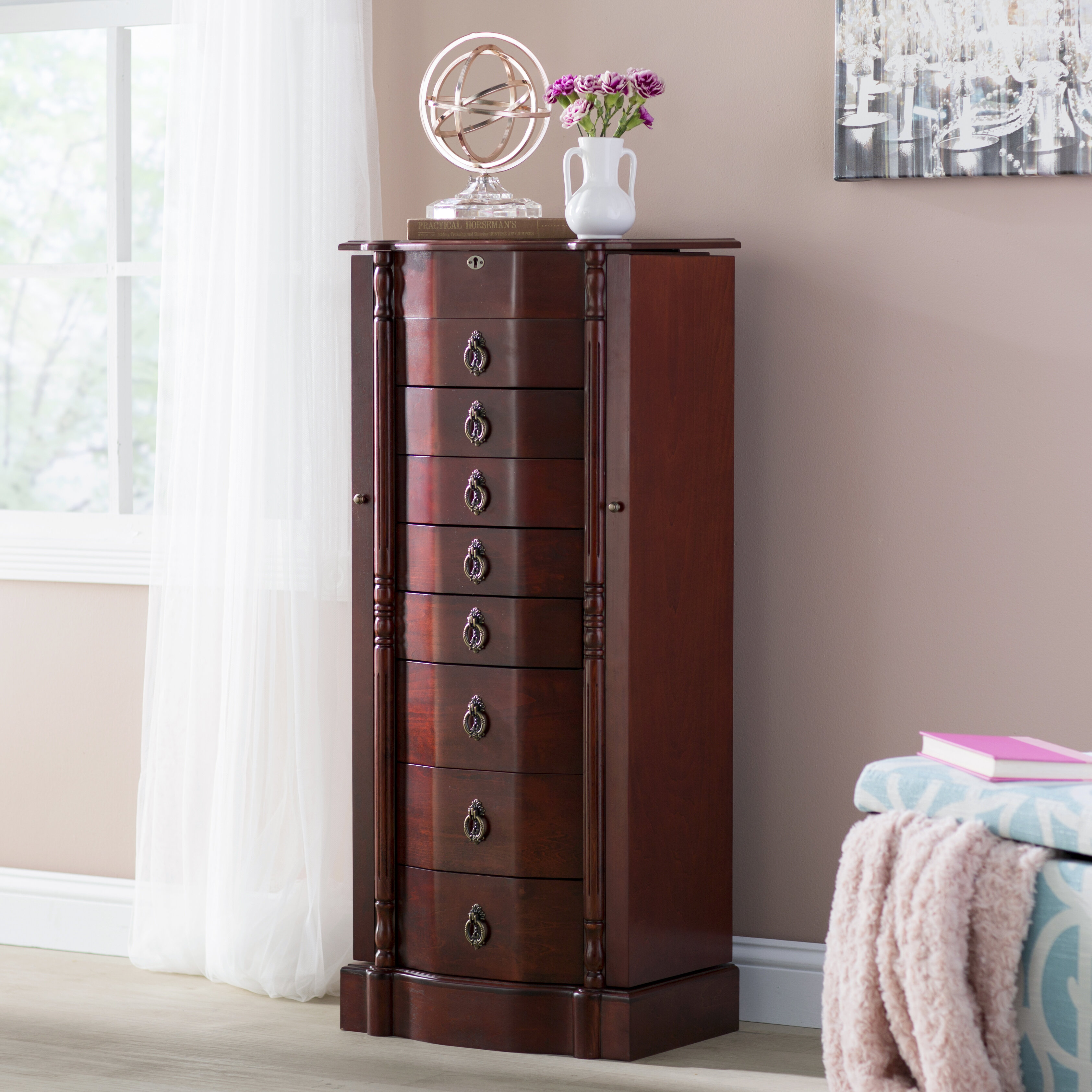 Astoria Grand Kennell Jewelry Armoire Reviews Wayfair